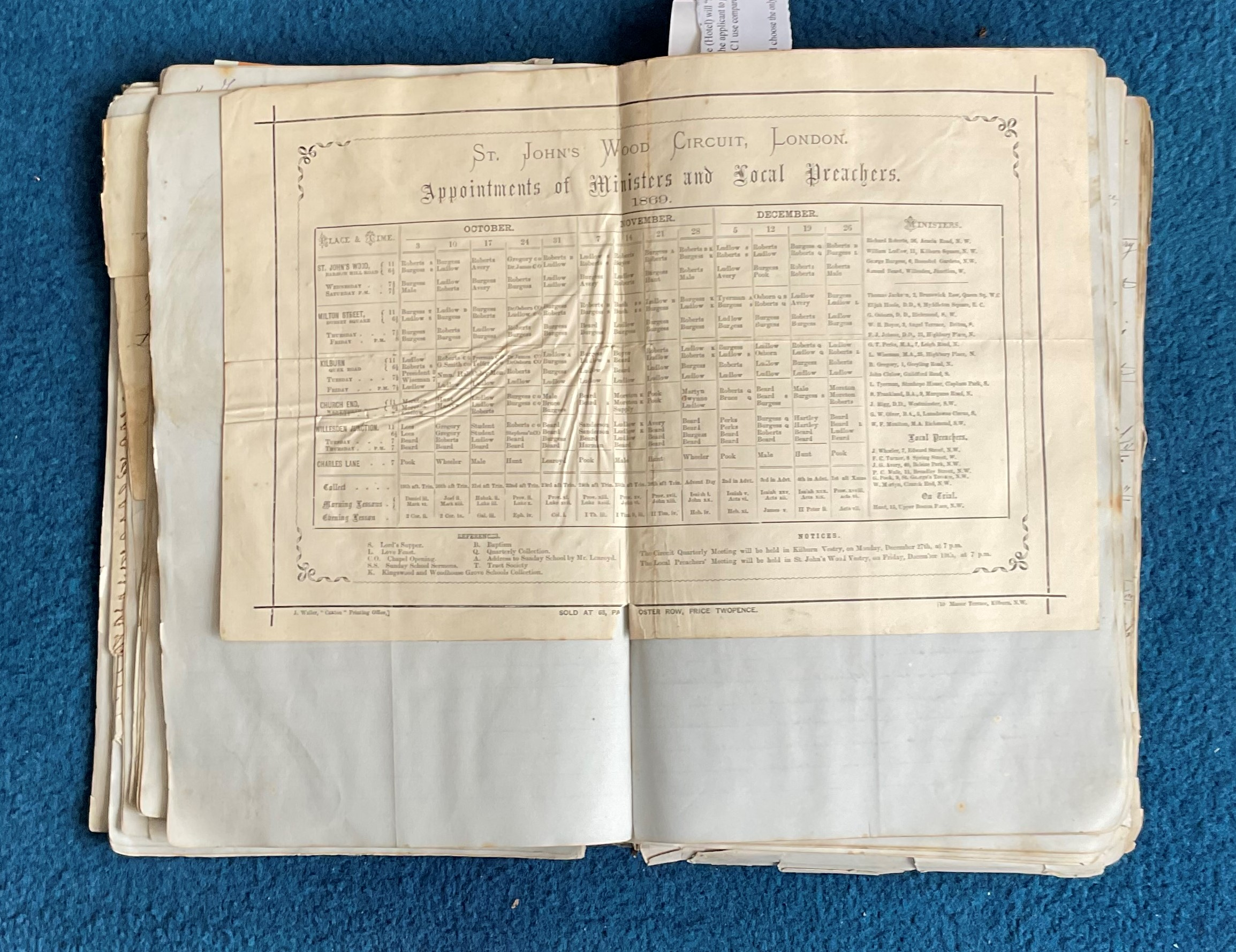 Victorian Scrapbook 1850s onwards containing a mixture of items Letters, Flyers, Photos & - Image 6 of 11