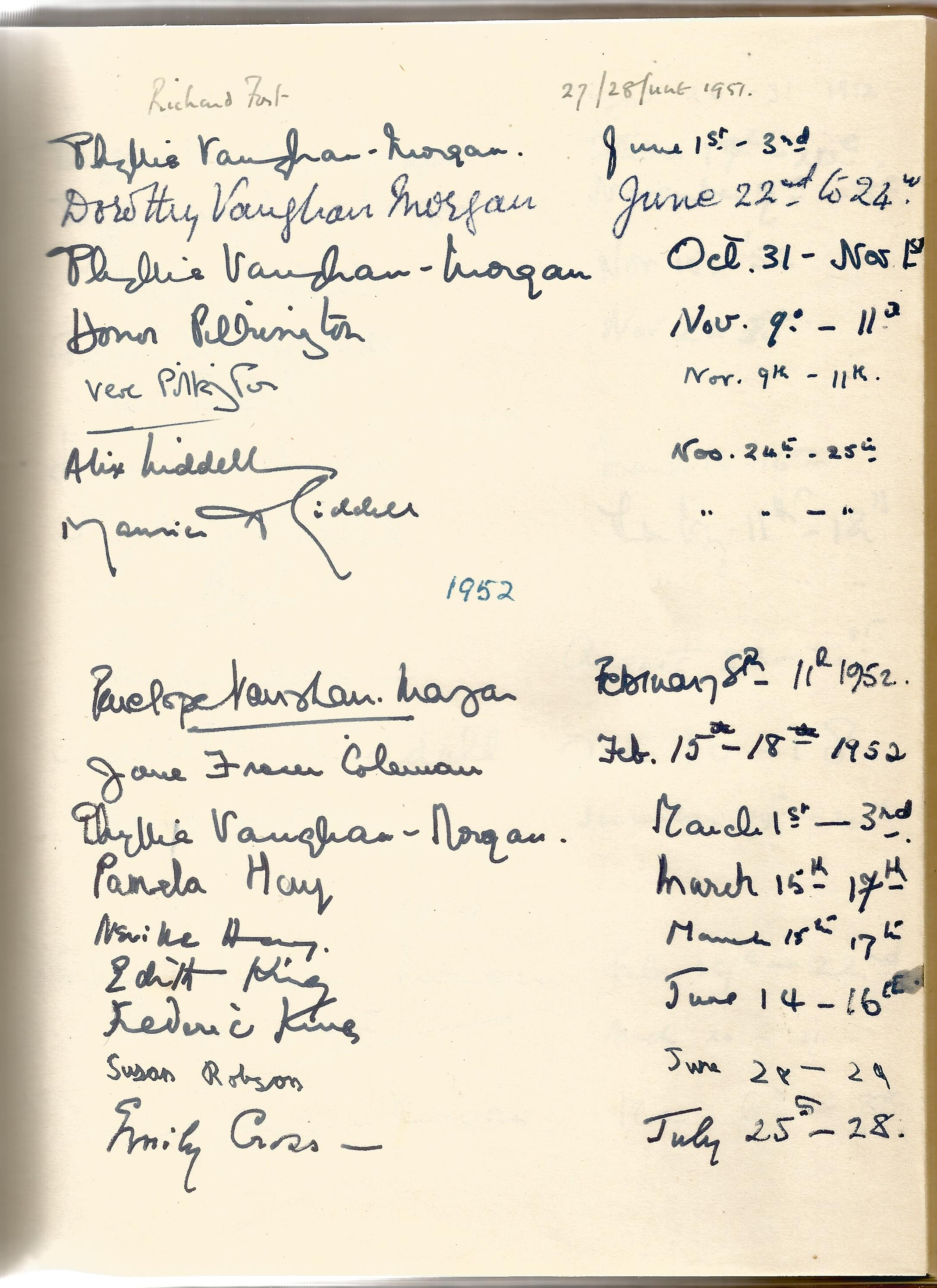 Hardback Book Expensively made visitors Book with slipcase JVM, EVM & 1949 in Gold Lettering on - Image 4 of 8