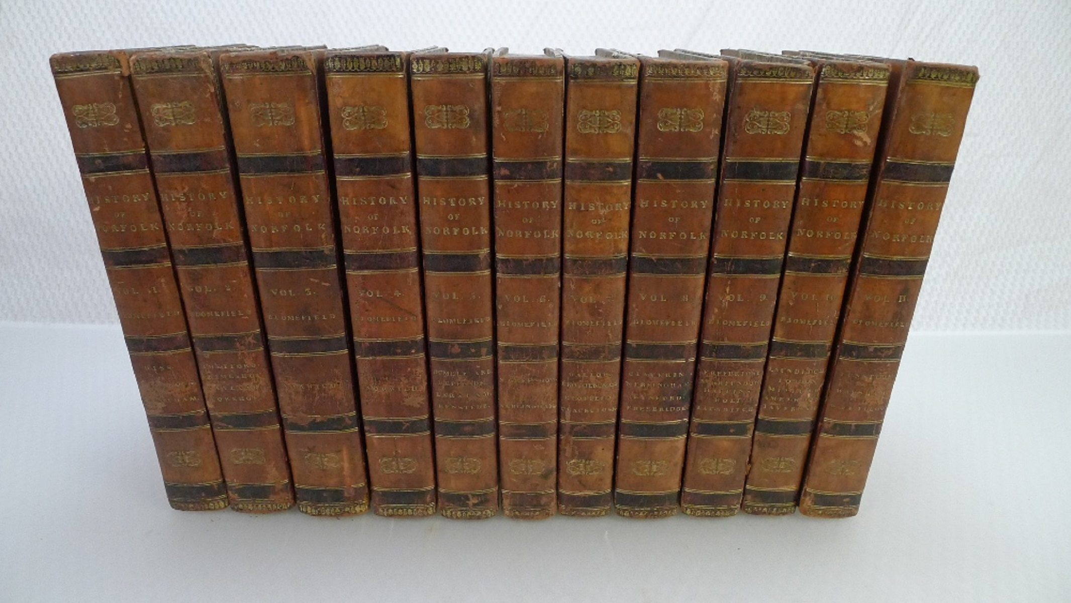 All 11 volumes of An Essay Towards the Topographical History of the County of Norfolk by Thomas - Image 5 of 23