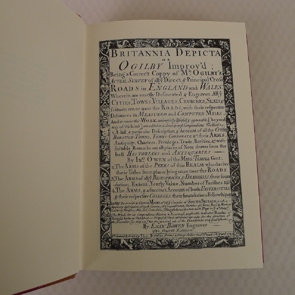 A facsimile reprint of Britannia Depicta 1731 by Emmanuel Bowen published by Britannia - Image 6 of 7