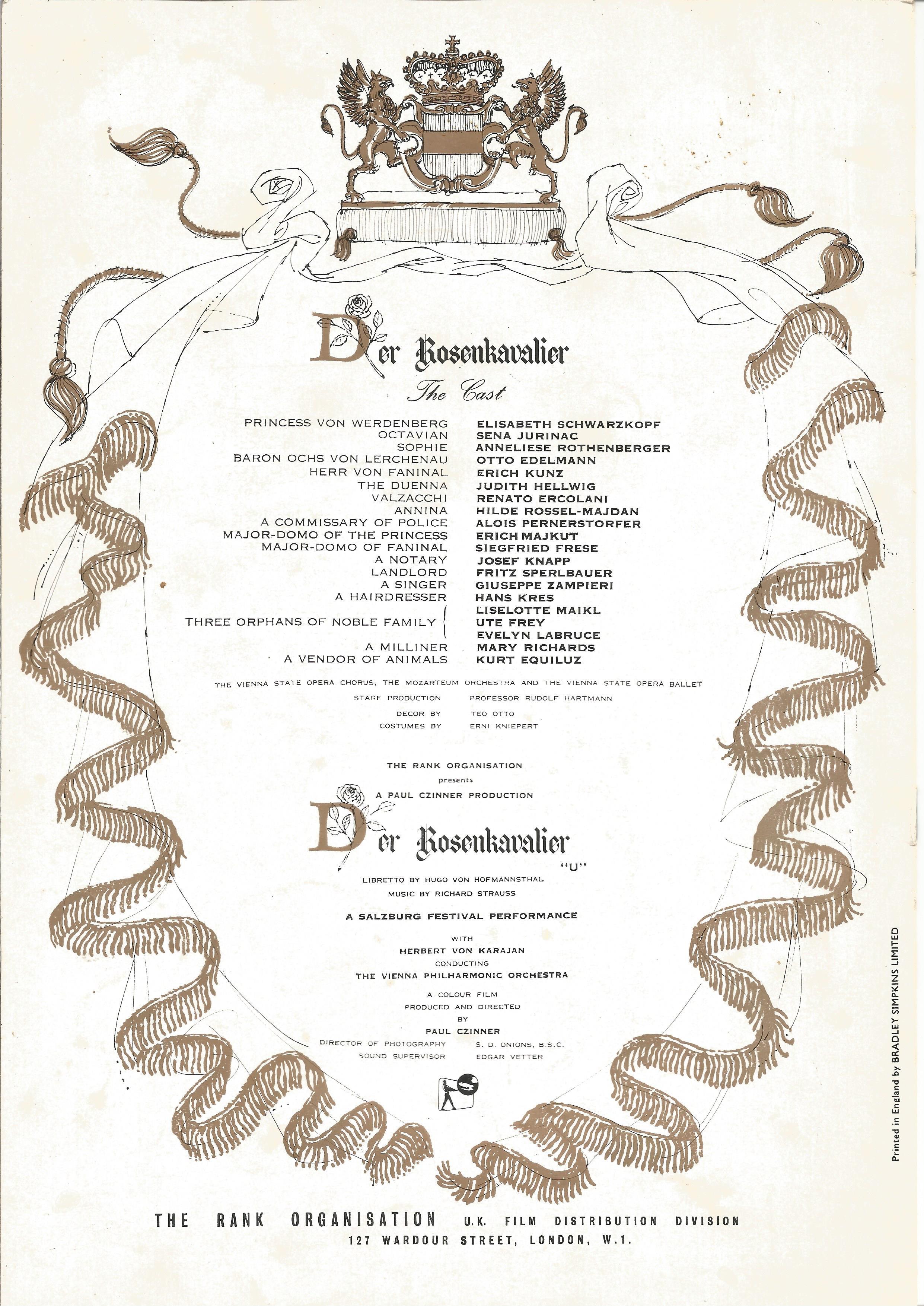 Opera in House Brochure A Dance Spectacular In Tribute to Dame Alicia Markova DBE 1990 Sadler's - Image 3 of 4