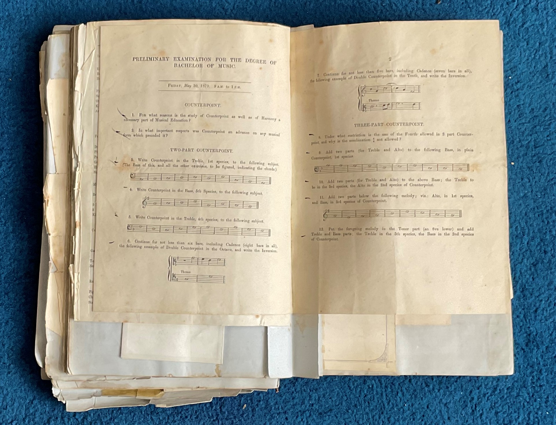Victorian Scrapbook 1850s onwards containing a mixture of items Letters, Flyers, Photos & - Image 10 of 11