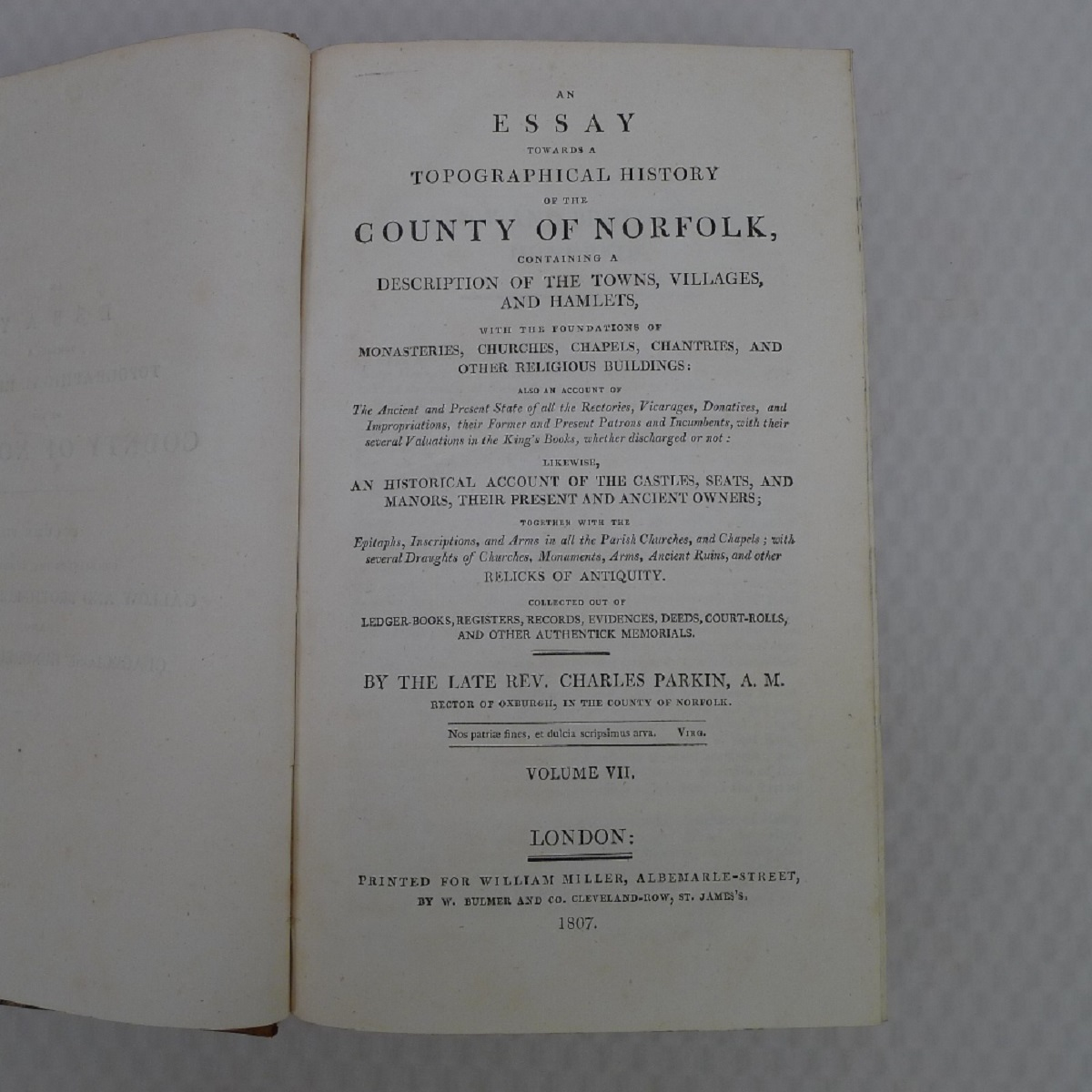 All 11 volumes of An Essay Towards the Topographical History of the County of Norfolk by Thomas - Image 16 of 23