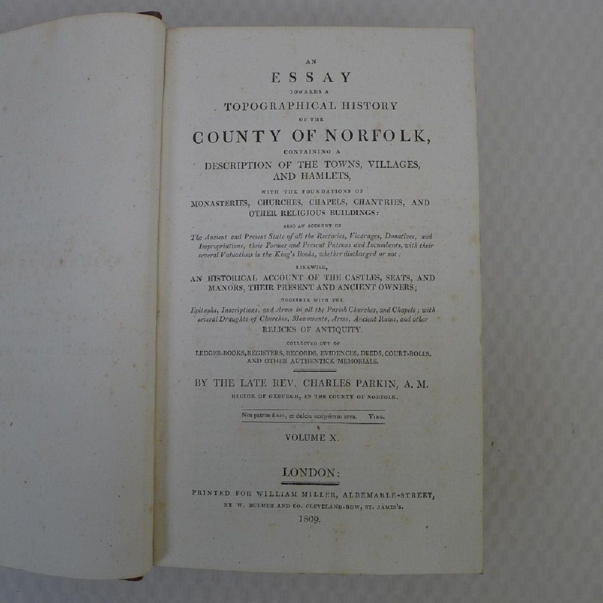 All 11 volumes of An Essay Towards the Topographical History of the County of Norfolk by Thomas - Image 22 of 23
