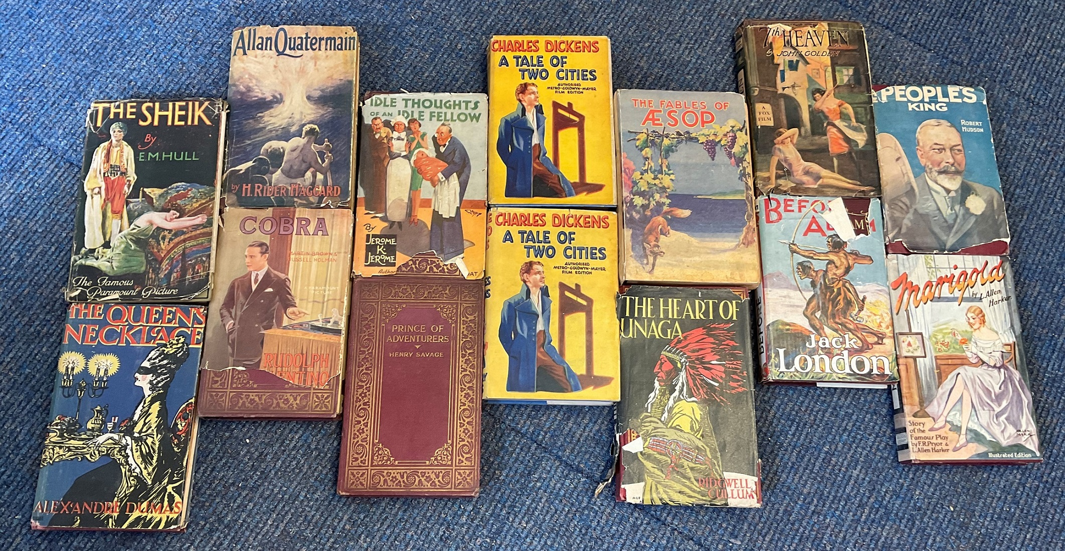 Collection 1920s Movie Books from Literary Press, 65 mainly with original pictorial dustjackets with - Image 3 of 3