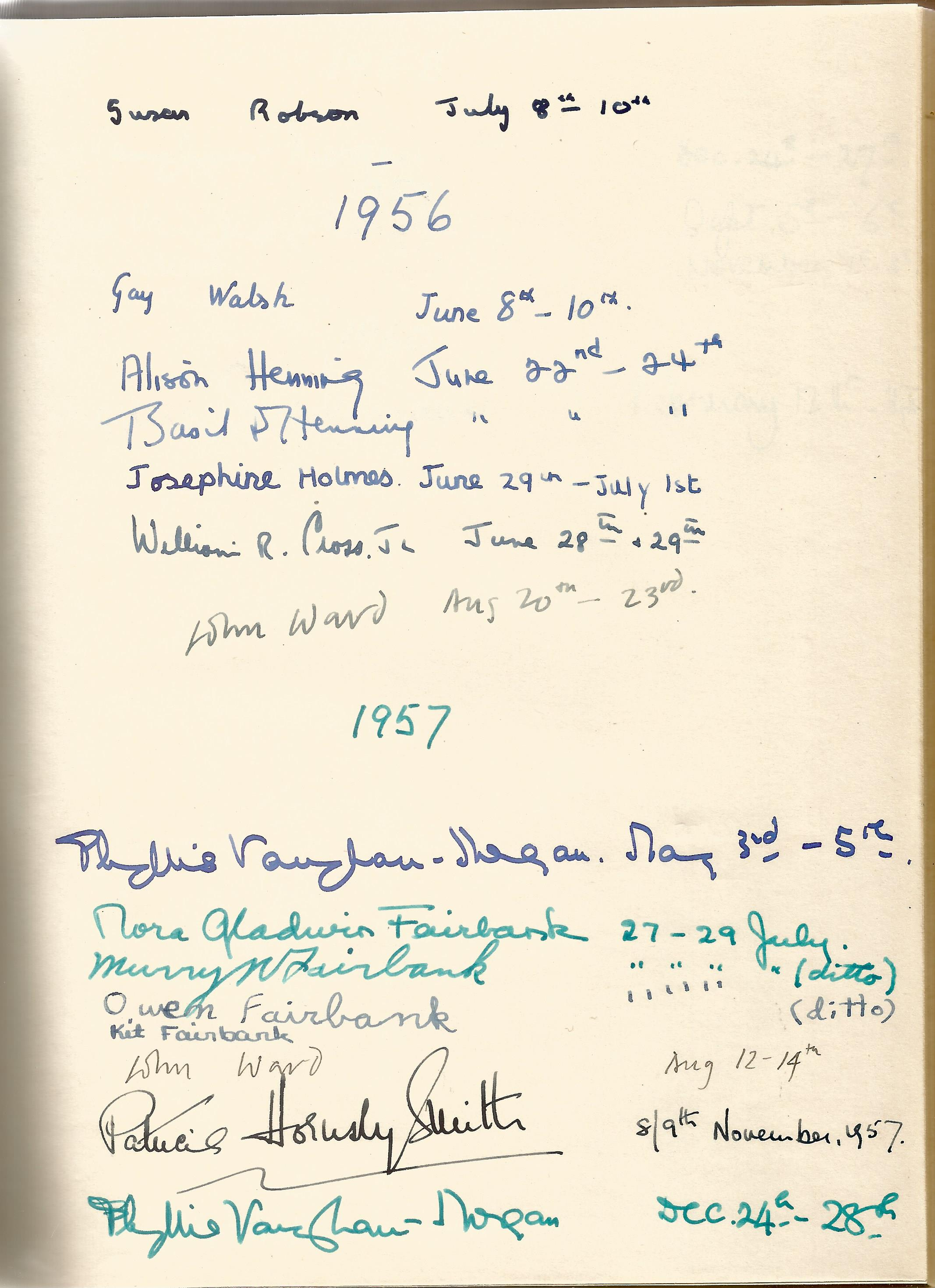 Hardback Book Expensively made visitors Book with slipcase JVM, EVM & 1949 in Gold Lettering on - Image 7 of 8