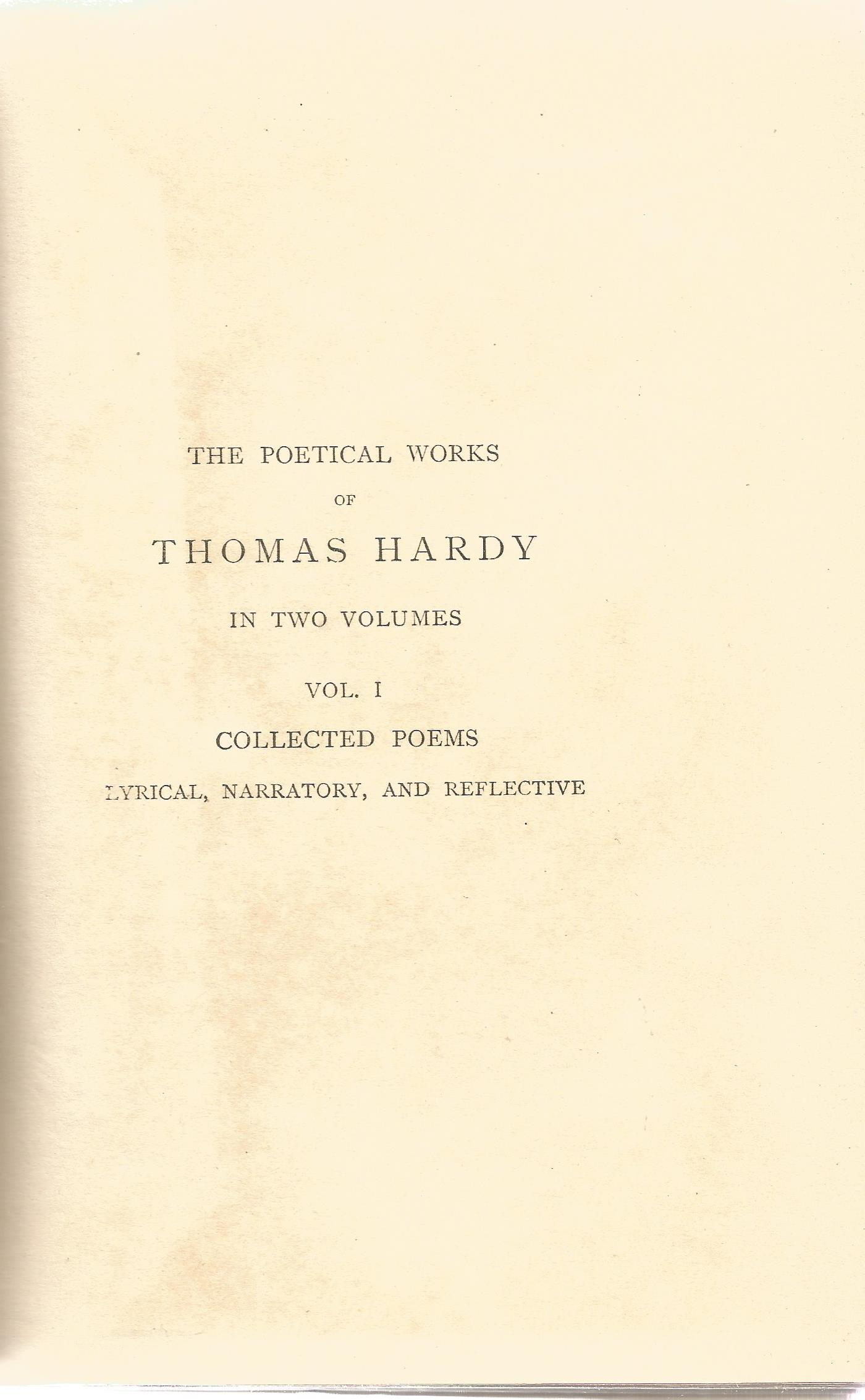 Hardback Book Collected Poems of Thomas Hardy with a Portrait 1919 First Edition published by - Image 3 of 3