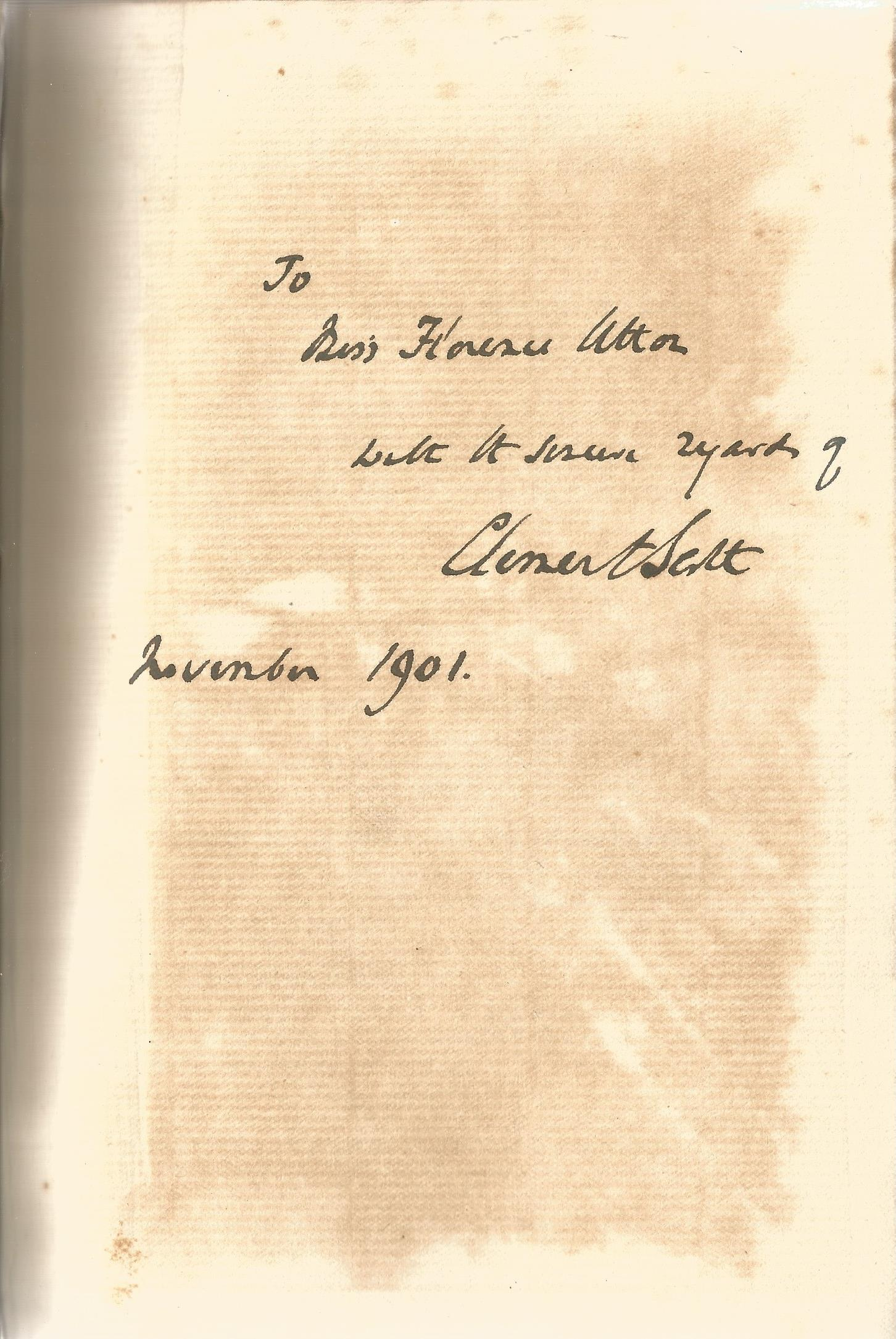 Clement Scott Hardback Book Some Notable Hamlets signed by the Author on the First Page and dated - Image 2 of 2