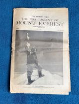1953 Times Newspaper Supplement The First Ascent of Mount Ever dated July 1953 Achieved on the