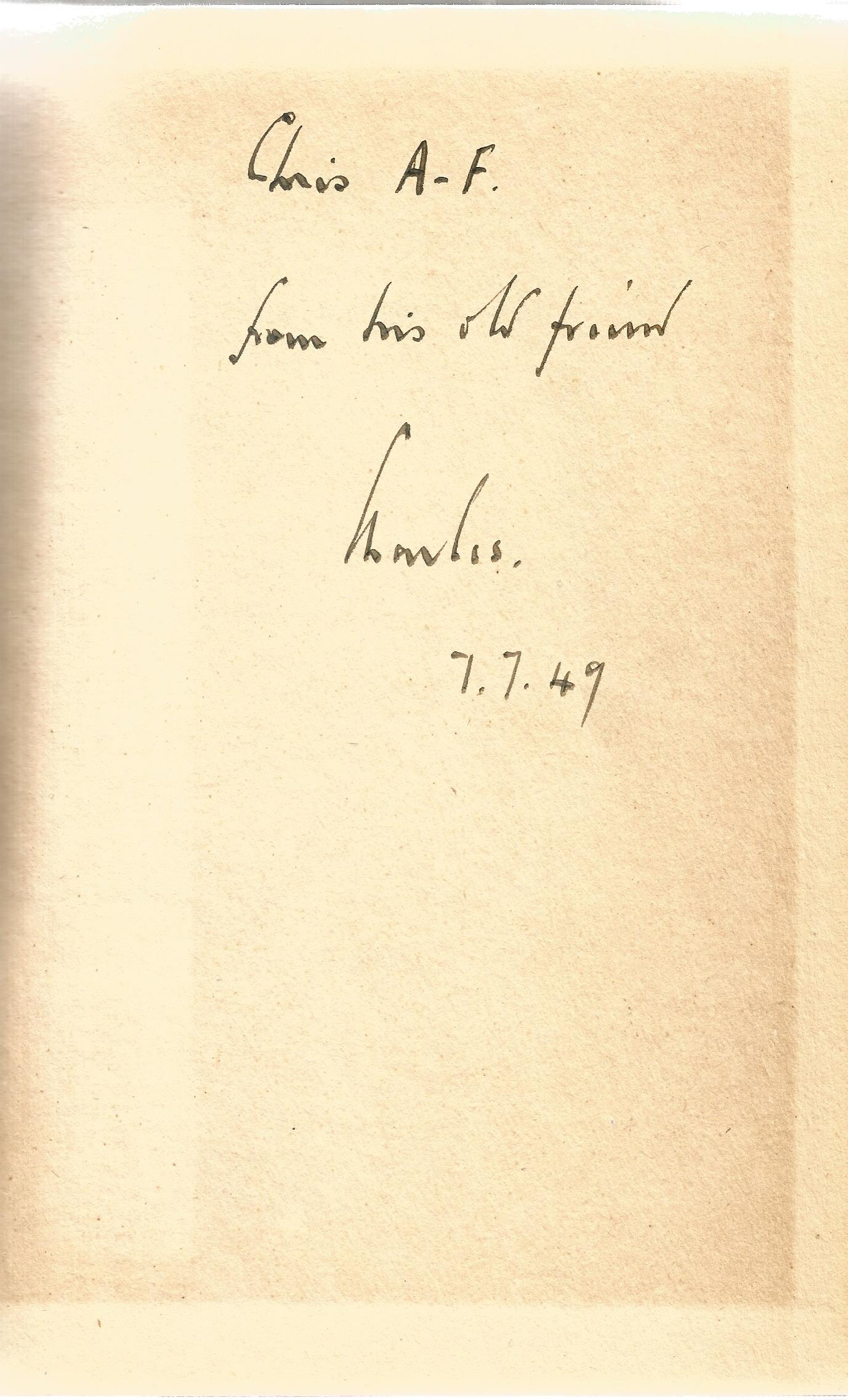 Signed Hardback Book The River Line by Charles Morgan First Edition 1949 published by Macmillan & Co - Image 3 of 3