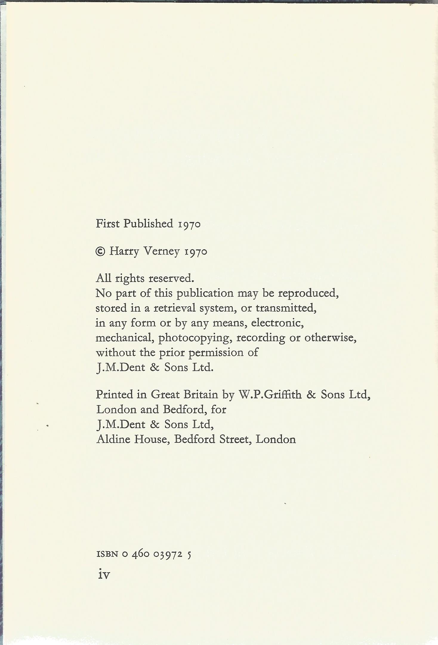 Signed Hardback Book Florence Nightingale at Harley Street Introduction & Signed by Sir Harry Verney - Image 3 of 3