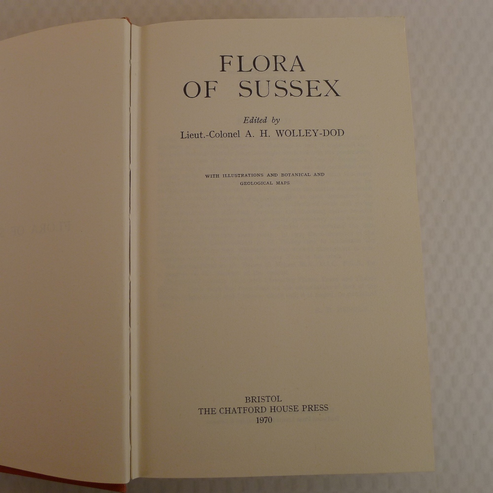 The Flora Of Sussex Edited by Lieut. Colonel A H Woolley Dod published by The Chatford House Press - Image 3 of 5