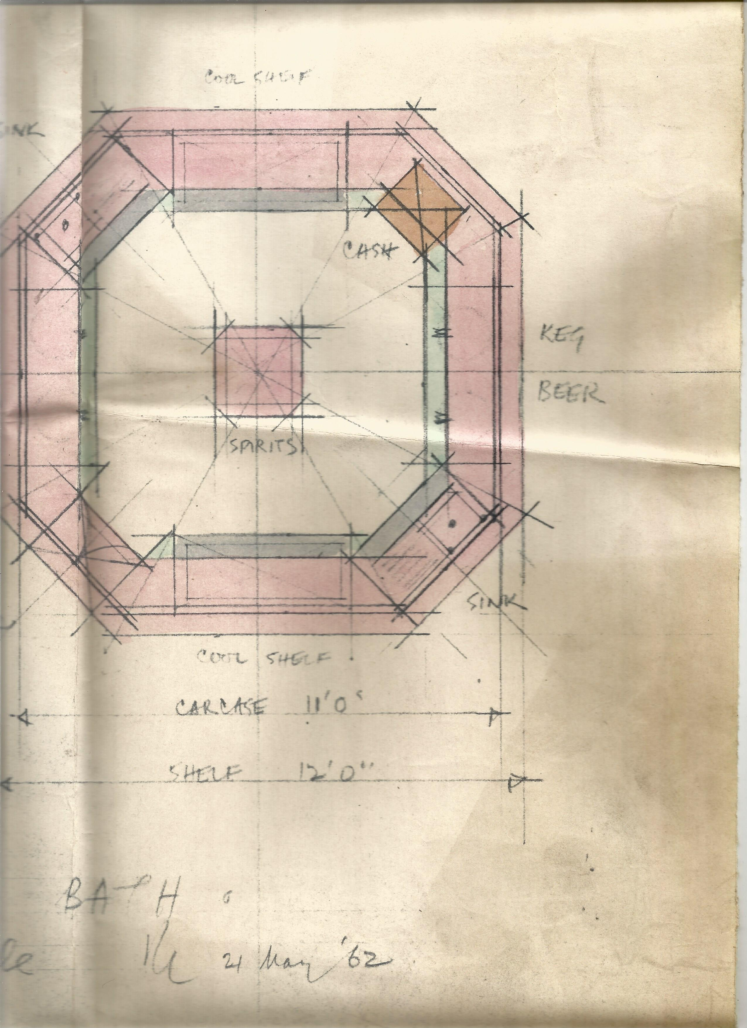 Architectural Drawings & Diagrams for Alterations at Bath Assembly Rooms in the 1960s Includes - Image 7 of 16