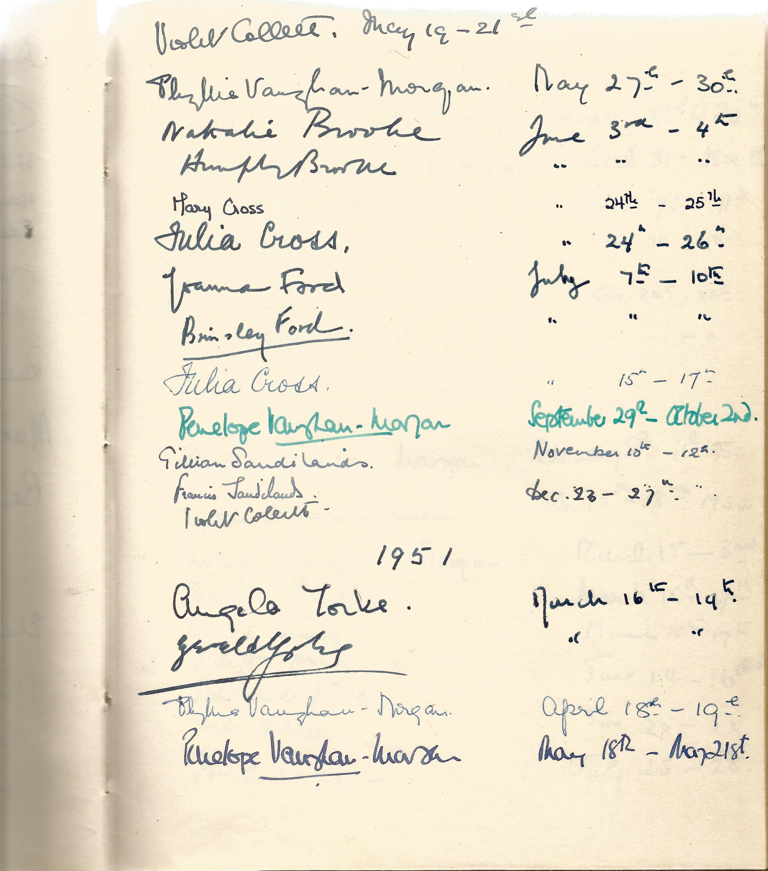 Hardback Book Expensively made visitors Book with slipcase JVM, EVM & 1949 in Gold Lettering on - Image 3 of 8