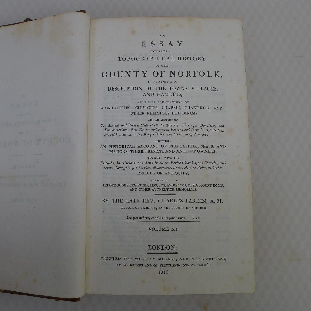 All 11 volumes of An Essay Towards the Topographical History of the County of Norfolk by Thomas - Image 23 of 23