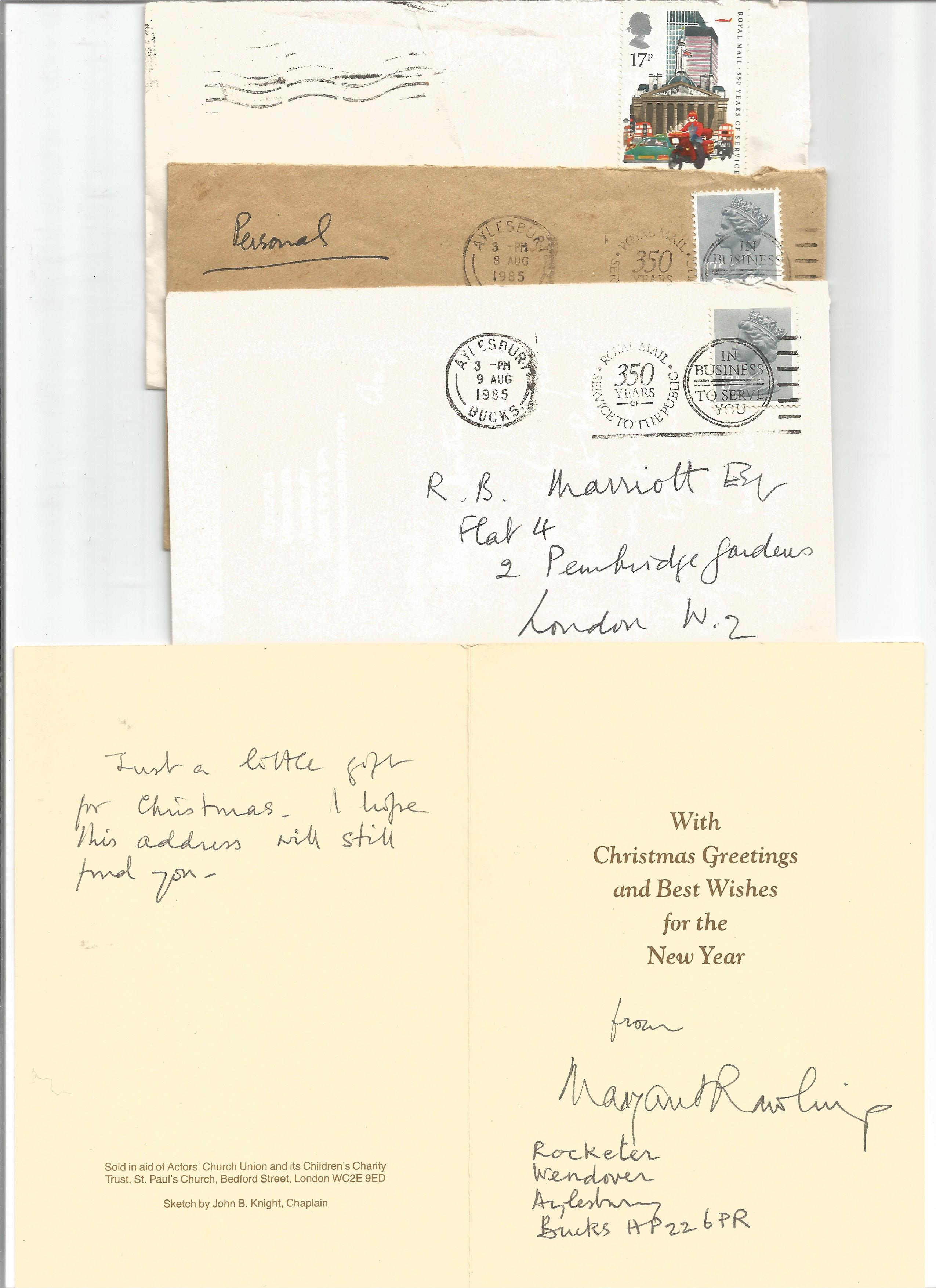 R B Marriott Correspondence collection 8 x Signed letters Margaret Rawlings, 1 Typed letter Sir - Image 2 of 3