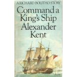Alexander Kent Paperback Book Command a king's Ship signed by the Author on the Title Page some