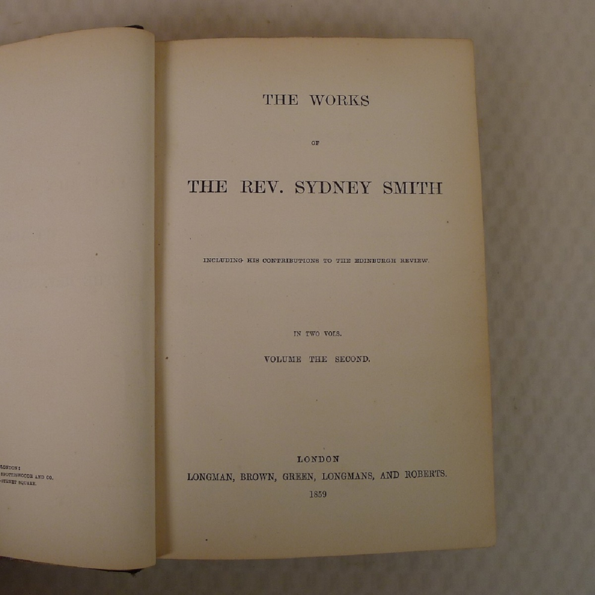 The works of the Rev. Sydney Smith including his contributions to the Edinburgh Review published - Image 5 of 5