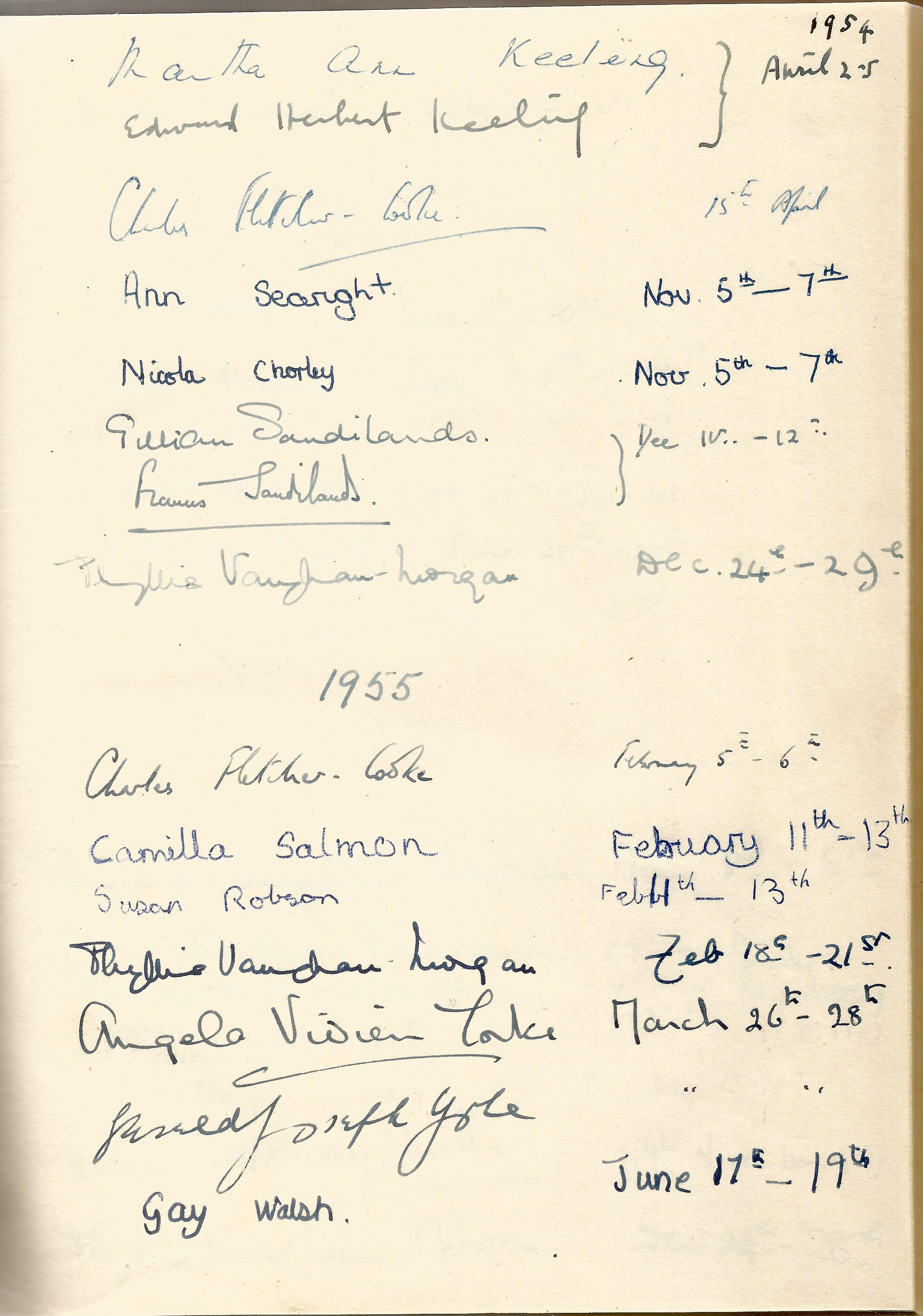Hardback Book Expensively made visitors Book with slipcase JVM, EVM & 1949 in Gold Lettering on - Image 6 of 8