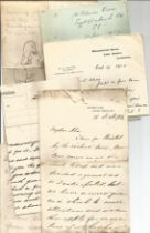Victorian Personal Correspondence Collection various letters most to Edward and Alice Ball from