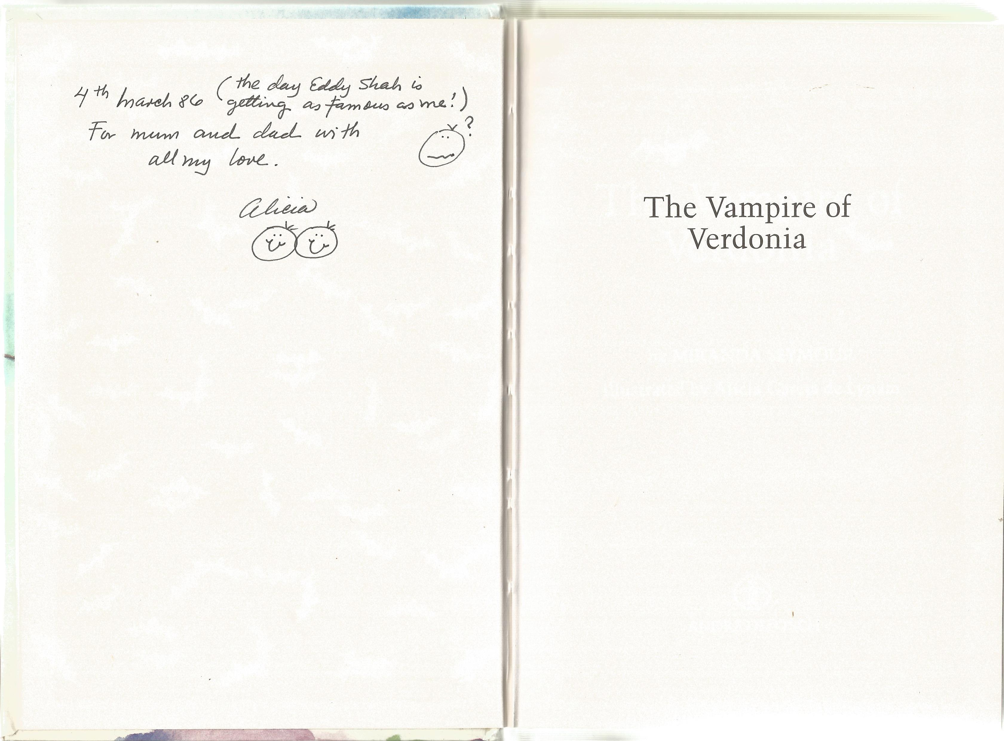 Miranda Seymour Hardback Book The Vampire of Verdonia signed by the Illustrator Alicia Garcia de - Image 2 of 2