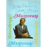 Signed Mantovani In House Brochure 1969 from a performance at Eastbourne Ticket stubs & Decca