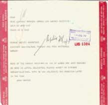 Correspondence collection of mostly signed letters to Mr F Kearns congratulating Him for receiving a