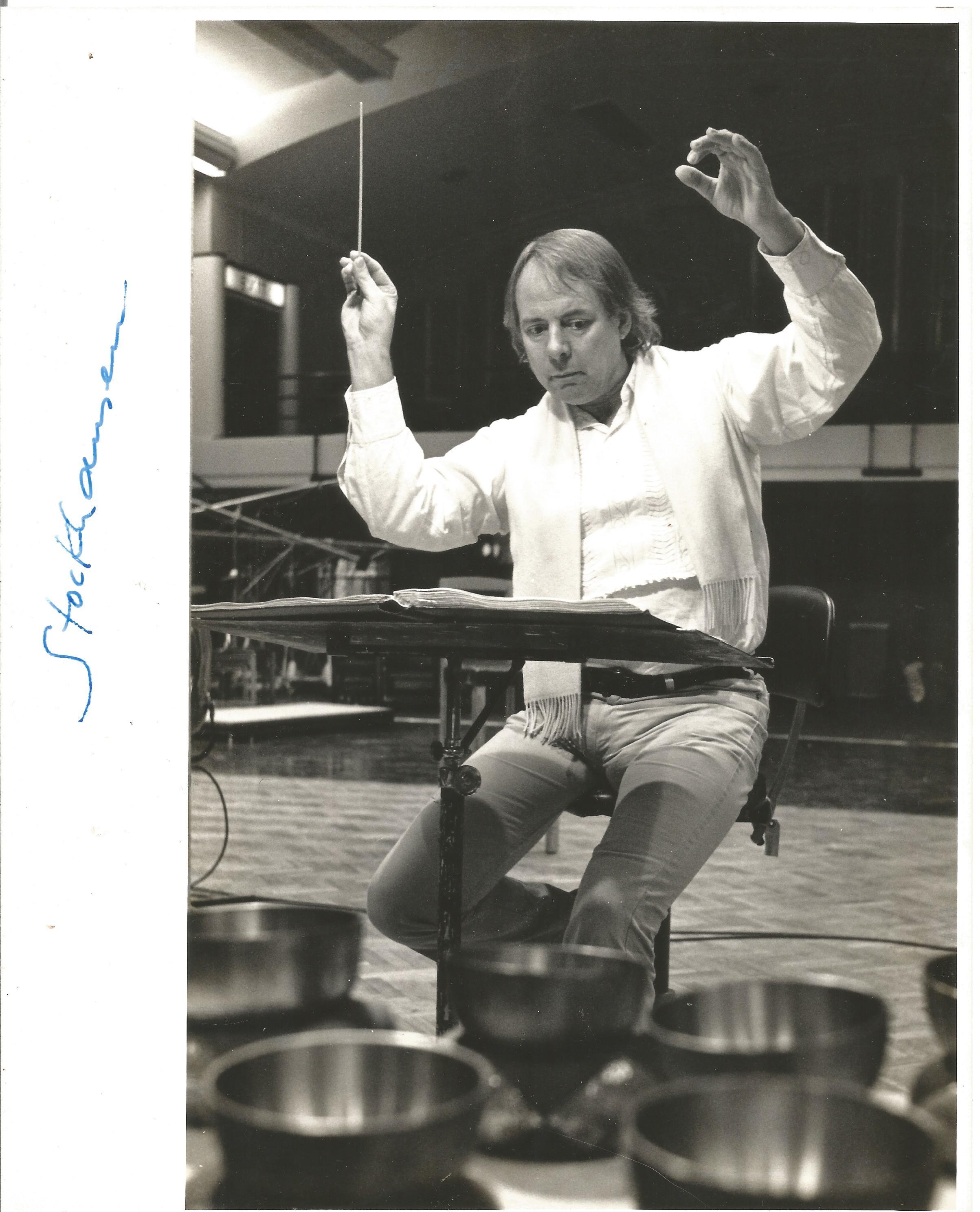 Arthur Bliss Signed music written for Fival Service Sing, Mortals! 1974, Karlheinz Stockhausen - Image 2 of 3