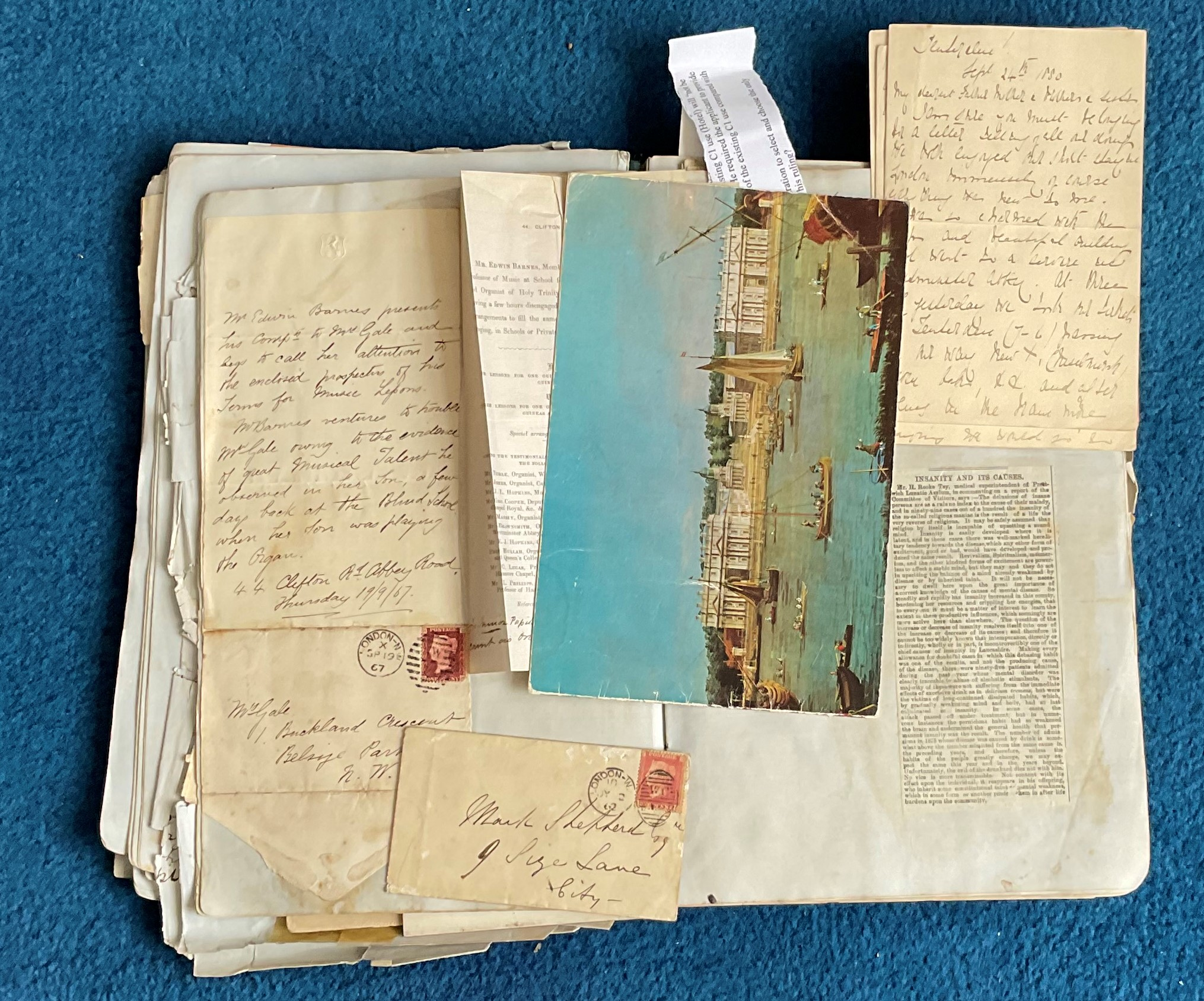 Victorian Scrapbook 1850s onwards containing a mixture of items Letters, Flyers, Photos & - Image 7 of 11