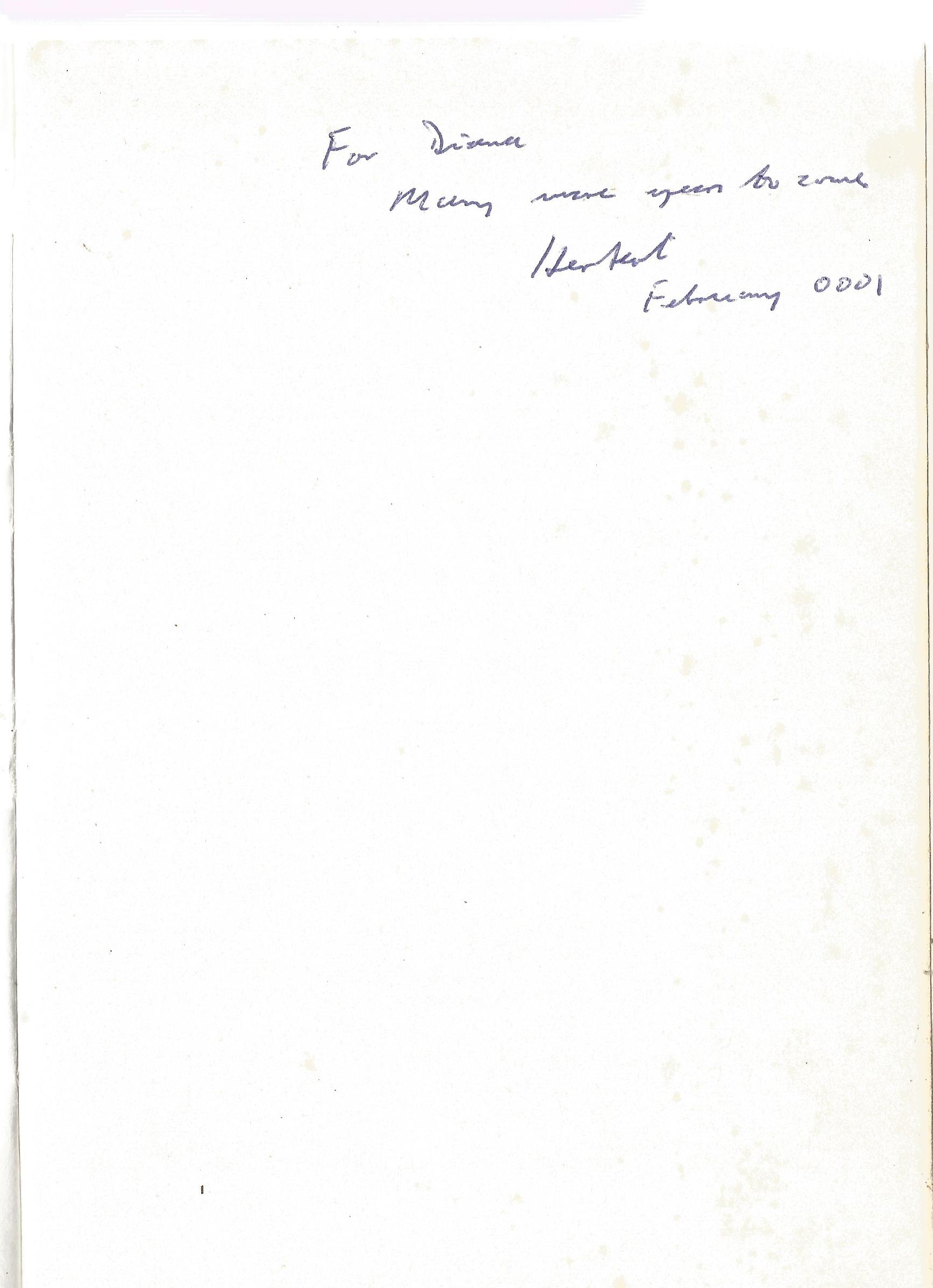 Herbert Ellis, MD Paperback Book Why not Live a little Longer? Signed by the Author on the First - Image 2 of 3