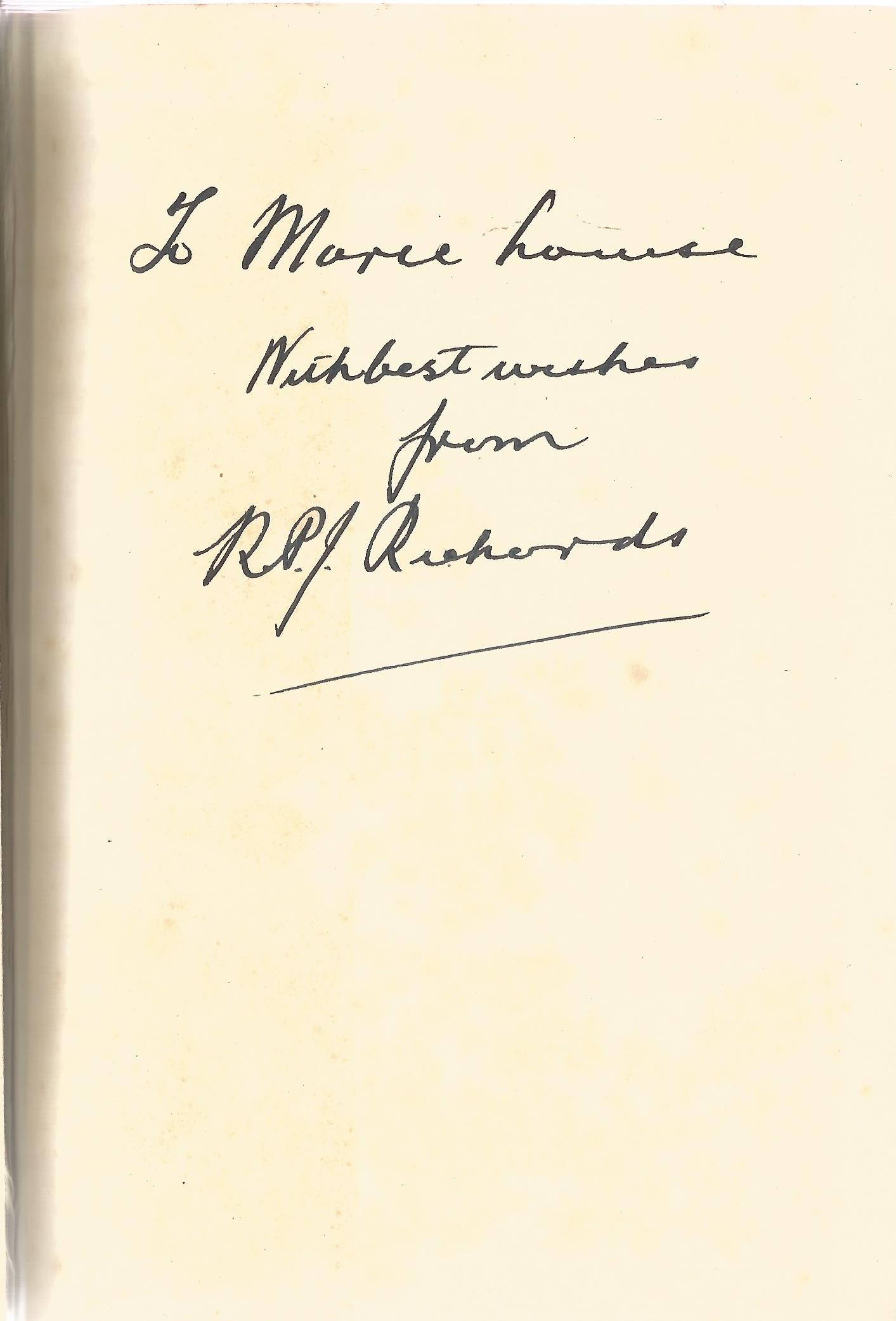 R.P.J. Richards Hardback Book The Blonde Goddess signed by the Author on First Page some ageing - Image 2 of 2