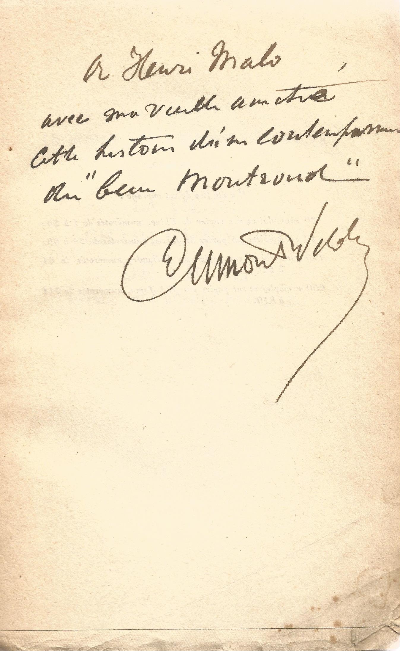 Signed Softback Book La Vie De Charles Joseph De Ligne by L Dumont Wilden First Edition 1927 - Image 3 of 3