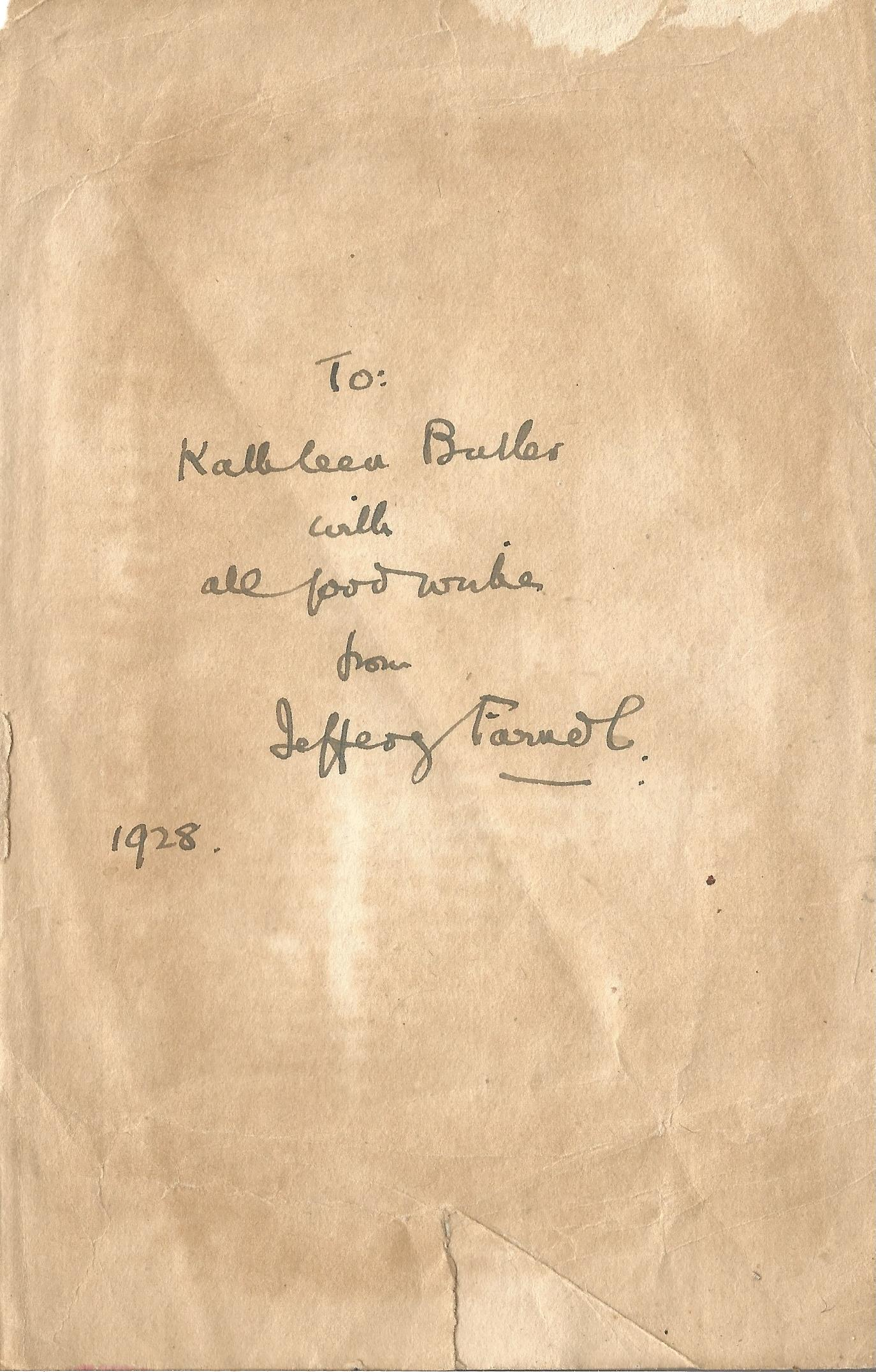 Jeffery Farnol signed vintage hardback book The Honourable Mr Tawnish. Published in 1913 this book - Image 3 of 3