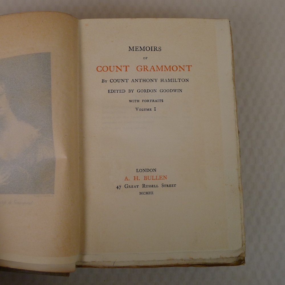 Memoirs of Count Grammont in two volumes by Count Anthony Hamilton with portraits, published by A - Image 4 of 8