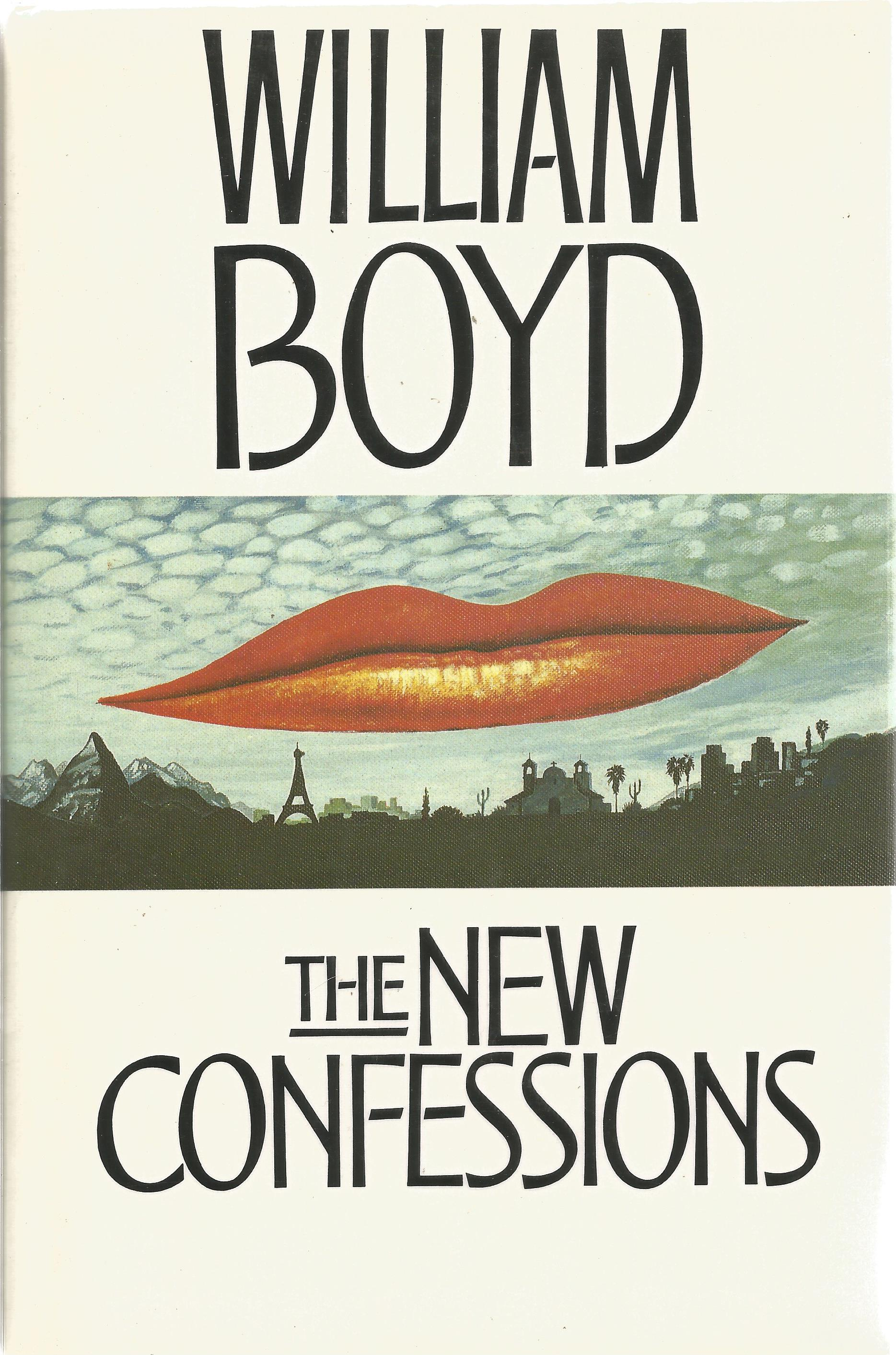 William Boyd Hardback Book The New Confessions signed by the Author on the Title Page dust cover and