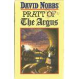 David Nobbs signed hardback book titled Pratt of the Argus published in 1988 title on the inside