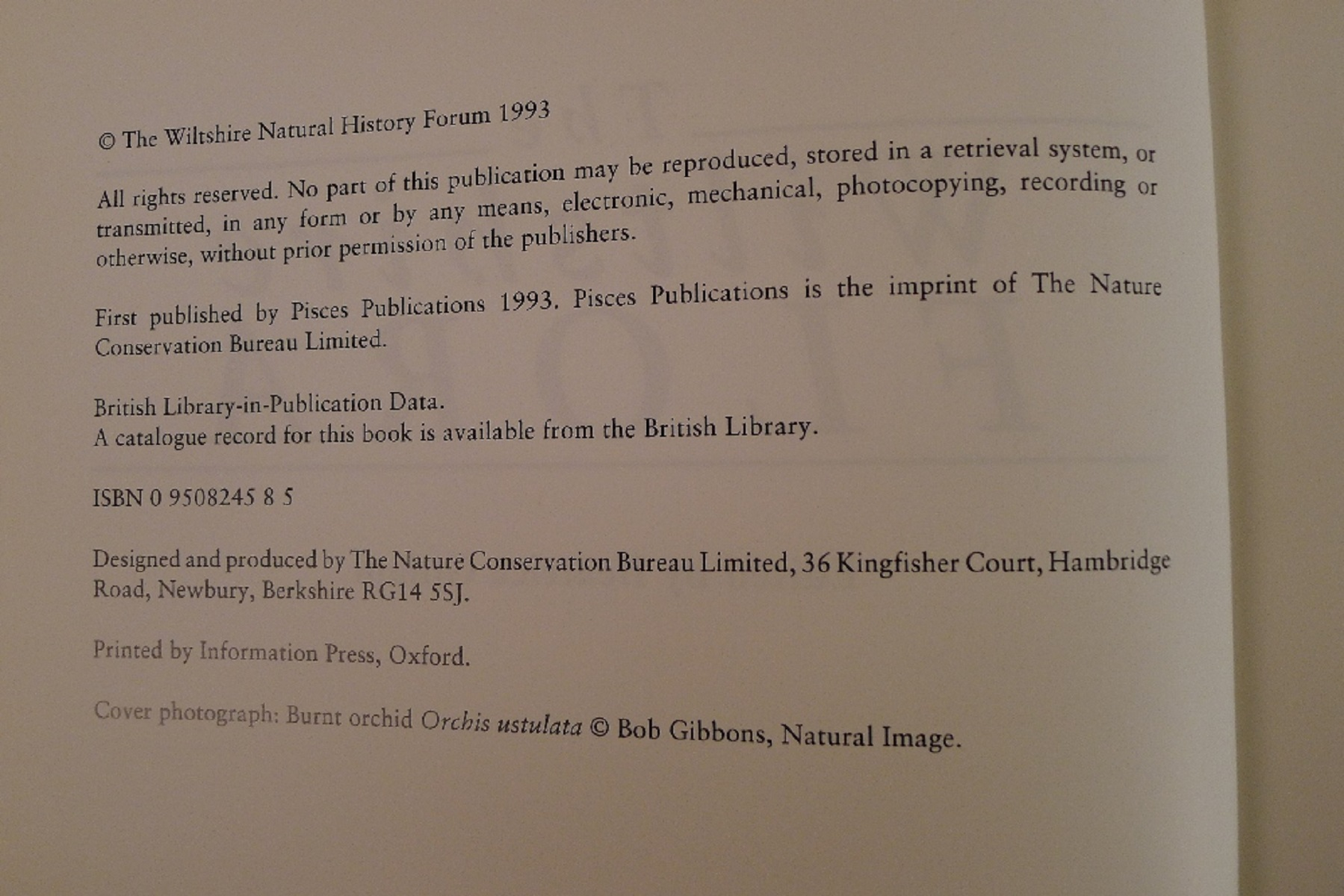 The Wiltshire Flora Edited by Beatrice Gillam published by Pisces Publications 1993 First Edition - Image 6 of 7