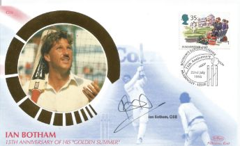 Cricket Ian Botham signed Golden Summer Silk Benham FDC