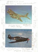 WW2 RAF 24 fighter aces signed photo display inc John Cunningham