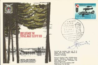 WW2 Great Escaper Walter Morrison signed Stalag Luft III cover.