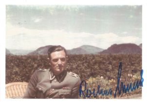 WW2 Rochus Misch Hitlers bodyguard signed 6 x 4 colour photo
