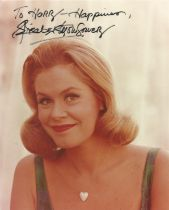 Elizabeth Montgomery as Samantha Bwitched signed 10 x 8 inch colour photo