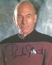 Star Trek Patrick Stewart signed 10 x 8 inch colour photo