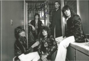 Rolling Stone Charlie Watts signed 12 x 8 inch b/w photo.