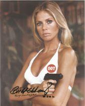 Britt Ekland signed 10 x 8 inch James Bond photo