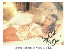 Tanya Roberts signed 10 x 8 inch colour James Bond photo