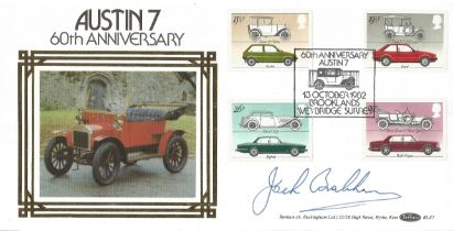 Motor Racing Jack Brabham signed 1982 Benham Motors official FDC