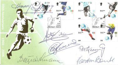 Football 5 Goalkeeper legends multiple signed Internetstamps 2006 World Cup FDC