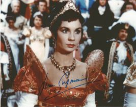 Jean Simmons actress signed stunning 10 x 8 inch colour photo