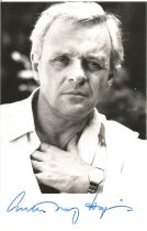 Anthony Hopkins signed 6 x 4 inch b/w portrait photo
